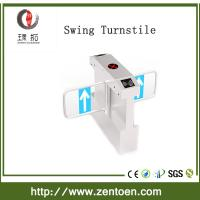 Buy cheap entry control applications RFID card reader security turnstile swing gate from wholesalers