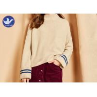 Buy cheap Big Fold Cuff Mock Neck Womens Knit Pullover Sweater Loose Fitting Winter Top from wholesalers
