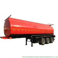 China Tri Axle Stainless Steel Tank Semi Trailer For Palm Oil / Crude Fuel / Petrol Oil Delivery on sale