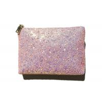 Buy cheap Rosegold Shiny PU Ladies Handbags Wristlet Clutch Bling Bling Cell Phone Purse product
