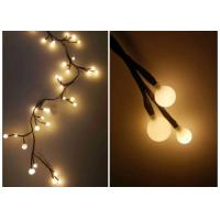 Buy cheap 220V Indoor LED String Lights 2.5 Meters 72 Warm White Bulbs For Xmas product