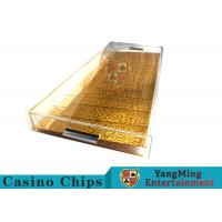 Buy cheap 9 Row Acrylic Casino Chip Tray With High Permeability Plexiglass Plate from wholesalers