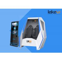 Buy cheap Leke Immersive 9D Virtual Reality Simulator 360 Degree Rotation Double Seat 9D VR Simulator product
