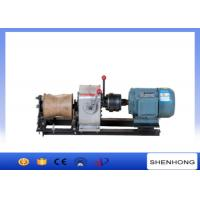 Buy cheap Electric Engine Cable Powered Pulling Winch By Shafted Driven 10KN product
