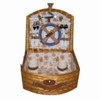 Buy cheap Fashionable Willow Picnic Basket, Suitable for Couples or Friends product