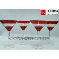 Buy cheap Engraved martini/cock tail glasses, hand blown, china glass supplier product