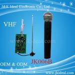 Buy cheap JK006B Amplifier karaoke VHF wireless micphone module  with handheld microphone product