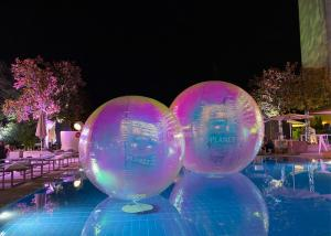 Buy cheap Colorful 2.0m PVC Inflatable Reflective Ball Christmas Mirror Sphere product