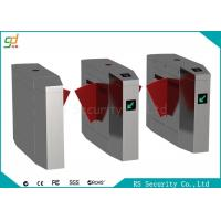 Buy cheap CE Automatic Turnstiles Flap Barrier Gate Stainless Steel Card Reader Turnstile product