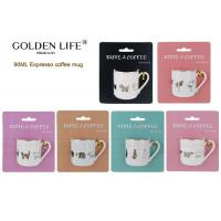 Buy cheap BSCI DISNEY Certificated Espresso Coffee Mugs Mug PC Real Gold Animals Design from wholesalers