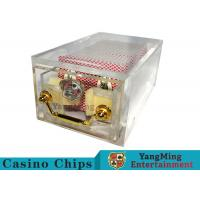 Buy cheap Acrylic Casino Card Shoe 8 DeckLarge Capacity With Bright Metal Lock product
