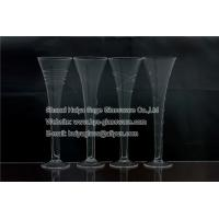 Buy cheap Clear stemless champagne glasses,engraved, trumpet shape product