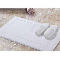 Buy cheap Sanitized Logo Hotel Non Slip Bath Mat / White Bathroom Floor Mats product