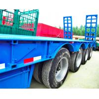 Buy cheap 80 Tons 4 Axles Low Bed Semi Trailer 12 Pcs Tyre 11.00R20 Tyre Model product