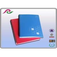 Buy cheap blue / red PP Cover Spiral Bound Notebooks for business office writting product