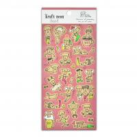 Buy cheap Cute Kraft Stationery Decoration Grandfather Paper Stickers Fluorescent Effect Yellow Green Size 20*9cm product