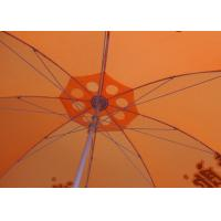 Buy cheap 36 Inch Orange Beach Umbrella Round Shaped With Aluminum Umbrella Handle product