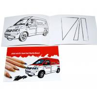 Buy cheap A5 Childrens Coloring Books Red Cover With Cars Drawing Glossy Coated Cover product