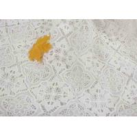 Buy cheap Dyeing Milk Fiber Chemical Polyester Vintage Lace Fabric With Floral Geometric Figure product