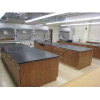 Quality Wood Workbench Laboratory Furniture / Lab Chemical Phenolic Resin Worktop for sale