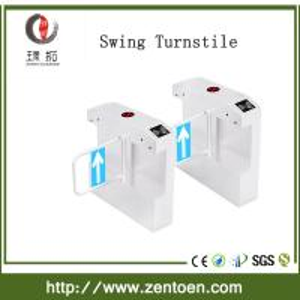 Buy cheap crowd control RFID card reader optical turnstile bi-directional swing gate product
