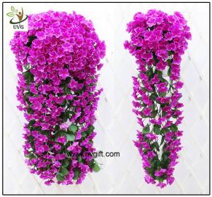 UVG artificial flowers wholesale hanging silk violet wreath for wedding flower arrangements WIS017
