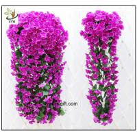 Quality UVG artificial flowers wholesale hanging silk violet wreath for wedding flower arrangements WIS017 for sale