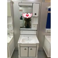 Buy cheap wall PVC Bathroom Cabinet / Single Bowl Bathroom Vanities with mirror 60cm product