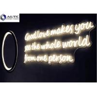 Buy cheap Building Decoration Outdoor Neon Signs Customized Dimensions Warm White , Red product