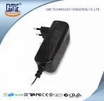 Buy cheap CCTV Cameras EU Plug Power Adapter AC DC  Black 90V - 264V AC Input Voltage product