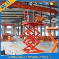 Buy cheap Safe 1.5T 3.5M Stationary Hydraulic Scissor Lift Hydraulic Warehouse Scissor Lift product