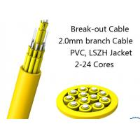 Buy cheap 24 Fiber Multimode Fan-Out Indoor Breakout Fiber Optic Cable With High Strength product