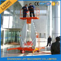 Buy cheap Mobile Aerial Working Electric Lift Ladder Renting Scaffolding with 4 Wheels product