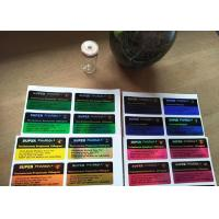Buy cheap Hologram Laser Label Stickers With Printing For Super Pharma Glass Bottle Vial from wholesalers