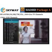 China HAOHD IPTV Malaysia Package A with live tv and vod ch include Chinese Malaysia Singapore indian for android tv box on sale