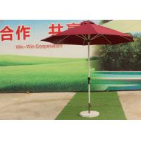 Buy cheap 3.0 M Red Big Outdoor Umbrella , Round Patio Umbrella Parasol For Garden product