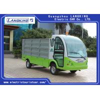 Buy cheap Hotel Or Park Electric Luggage Cart With Comfortable Chair / Electric Freight Car With Hydraulic Pressure Lift Board product