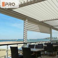 Long Life Span Modern Aluminum Pergola With Electric Motor System