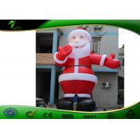Buy cheap Huge Inflatable Holiday Decorations Santa Claus For Advertising 2 - 3 Years Warranty product