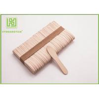 Buy cheap Large Ice Cream Popsicle Sticks , 75mm Jumbo Paddle Pop Sticks Non - Waxed product