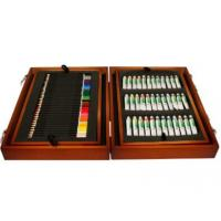 Wood Painting Box Set, 36 Acrylic Paint Color Tubes, 34 Color Pencils, 42 Felt