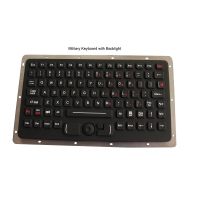 Buy cheap EMC Panel Mount Rubber Rugged Military Keyboard With Backlight product
