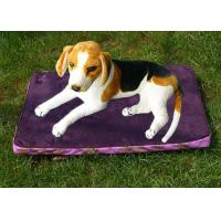 Buy cheap Polyester Rectangle Pet Cushion Purple Waterproof Dog Bed Suede 1.3KG product