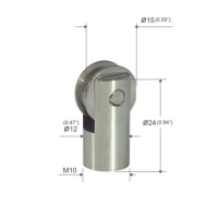 Buy cheap ∅15mm Dia Brass Plated Nickel Ceiling Hardware Part With Roller Shaft YW86275 product