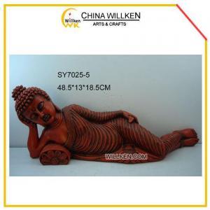 China Polyresin Sleeping Buddha Statue for Souvenir on sale