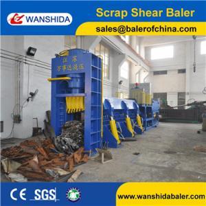 Buy cheap Wanshida 630ton Heavy Duty Scrap Shearing Press for metal recycling yards steel factories product