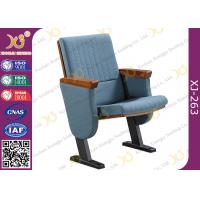 Buy cheap Molded Foam Low Back Auditorium Seat Chairs With MDF Writing Pad Spring Return product