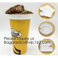 Buy cheap Flower Shaped 330ml PP Plastic Snack Plate With Cup Holder,Disposable PS Plastic Cup Top Snack Tray,Snack Cup With Straw product