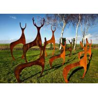 Buy cheap Custom Mainstream Sculpture Garden Decoration Deer Sculpture Made Of Corten Steel product