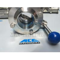 Buy cheap Sanitary Stainless Steel Butterfly Valve with Weld Ends (ACE-DF-2D) product